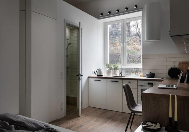 Căn hộ 17 m2 đủ tiện nghi mà vẫn thoáng đẹp khiến nhiều người khâm phục - Ảnh 4.