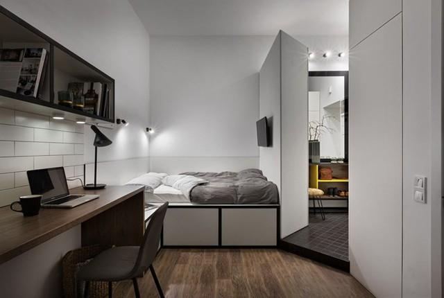 Căn hộ 17 m2 đủ tiện nghi mà vẫn thoáng đẹp khiến nhiều người khâm phục - Ảnh 7.