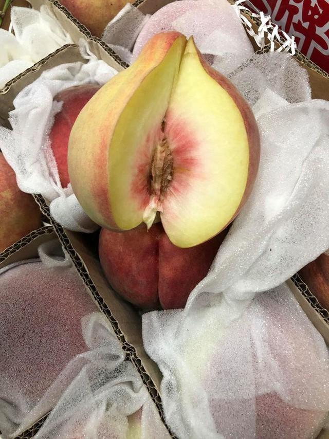"""""""Đào tiên bán tràn lan từ chợ dân sinh đến cửa hàng hoa quả nhập khẩu với giá cả chênh lệch đến trăm nghìn/kg - Ảnh 5."""