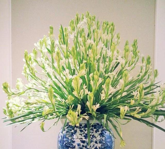 Cách cắm hoa huệ dâng ban thờ mùa Vu lan - Ảnh 4.