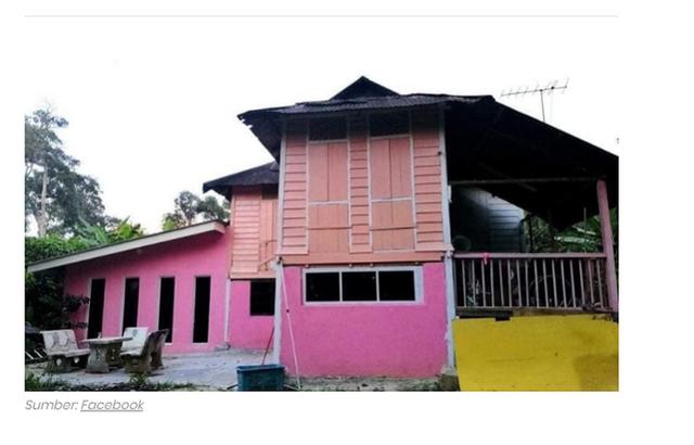 Cặp vợ chồng trung niên chơi trội khi cải tạo lại ngôi nhà cũ nát thành ngôi nhà Hello Kitty sến rện - Ảnh 3.