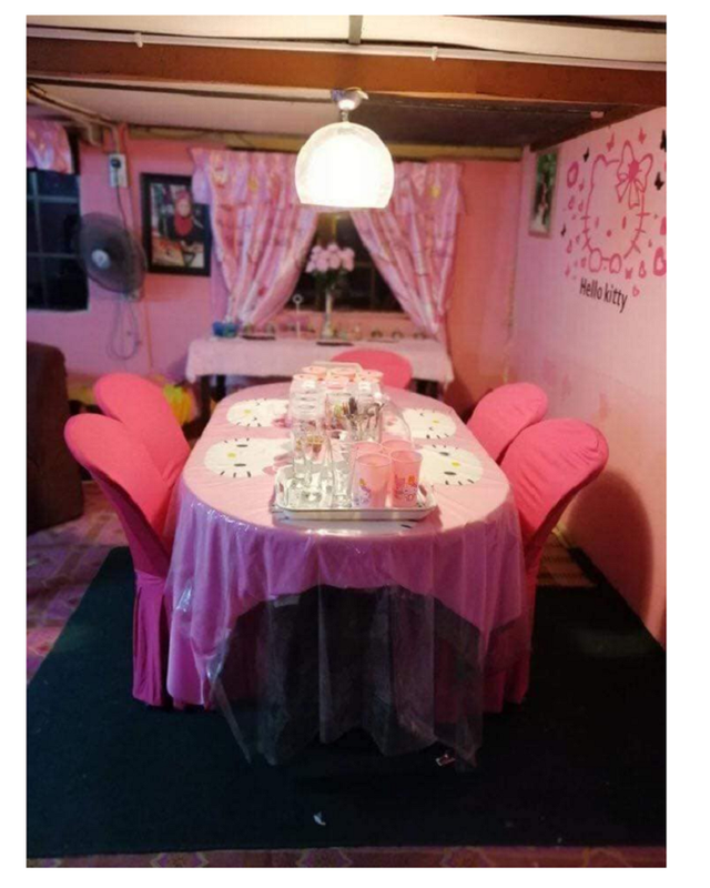 Cặp vợ chồng trung niên chơi trội khi cải tạo lại ngôi nhà cũ nát thành ngôi nhà Hello Kitty sến rện - Ảnh 5.