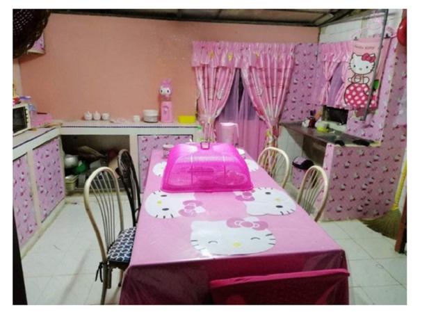 Cặp vợ chồng trung niên chơi trội khi cải tạo lại ngôi nhà cũ nát thành ngôi nhà Hello Kitty sến rện - Ảnh 6.