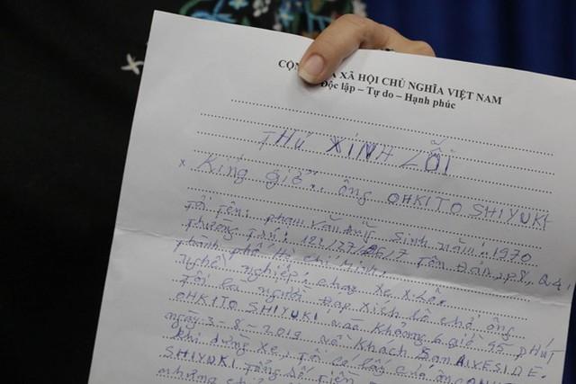Tài xế xích lô gửi thư xin lỗi vì lấy 2,9 triệu đồng của du khách Nhật - Ảnh 1.