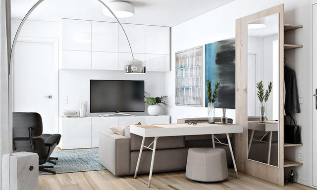 Tận dụng màu trắng căn hộ nhỏ của bạn sẽ được nới rộng một cách bất ngờ đấy - Ảnh 1.