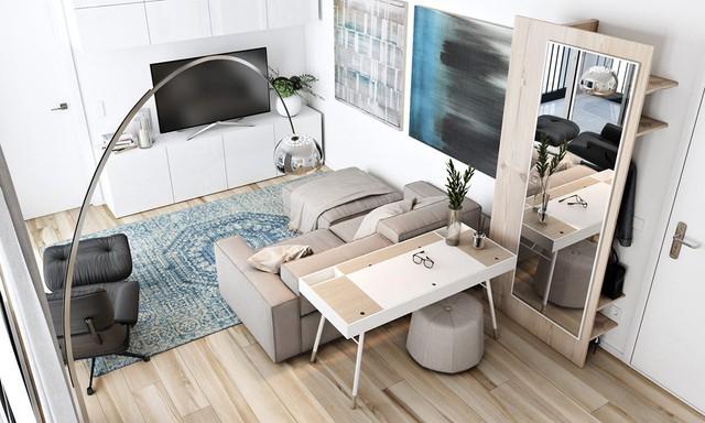 Tận dụng màu trắng căn hộ nhỏ của bạn sẽ được nới rộng một cách bất ngờ đấy - Ảnh 2.
