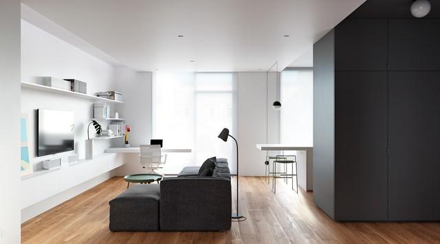 Tận dụng màu trắng căn hộ nhỏ của bạn sẽ được nới rộng một cách bất ngờ đấy - Ảnh 11.