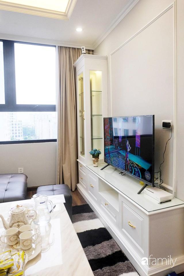 Từ hiện trạng trống trơn, căn hộ 81m² mặc chiếc áo tân cổ điển đẹp sang trọng với chi phí thi công 175 triệu ở Long Biên - Ảnh 11.