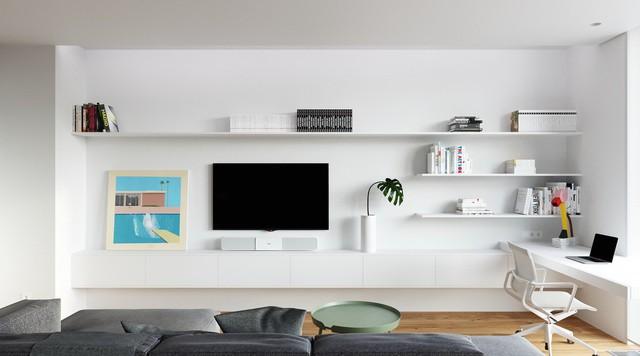 Tận dụng màu trắng căn hộ nhỏ của bạn sẽ được nới rộng một cách bất ngờ đấy - Ảnh 12.