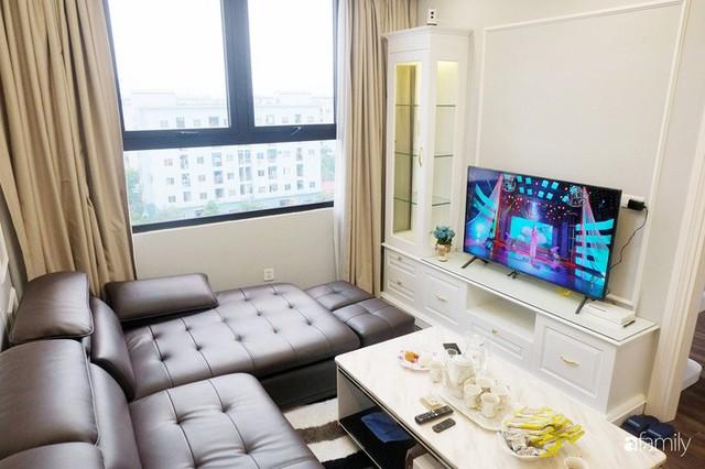 Từ hiện trạng trống trơn, căn hộ 81m² mặc chiếc áo tân cổ điển đẹp sang trọng với chi phí thi công 175 triệu ở Long Biên - Ảnh 12.