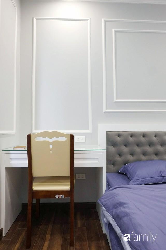 Từ hiện trạng trống trơn, căn hộ 81m² mặc chiếc áo tân cổ điển đẹp sang trọng với chi phí thi công 175 triệu ở Long Biên - Ảnh 16.