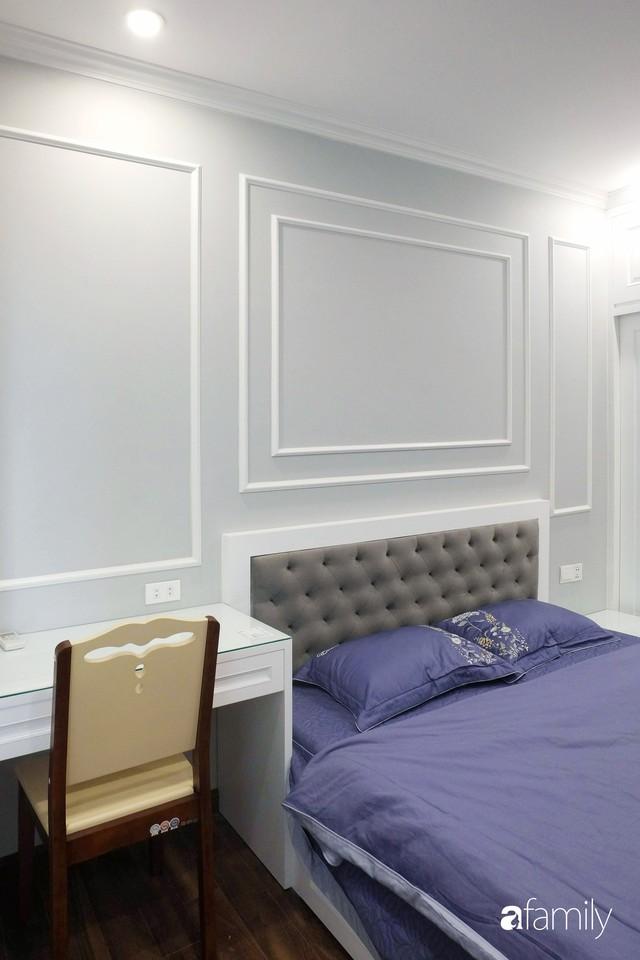 Từ hiện trạng trống trơn, căn hộ 81m² mặc chiếc áo tân cổ điển đẹp sang trọng với chi phí thi công 175 triệu ở Long Biên - Ảnh 18.