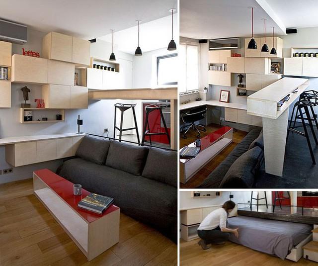10 căn hộ nhỏ với thiết kế tinh xảo, nhiều người có nhà to cũng phải vật vã phát thèm - Ảnh 3.