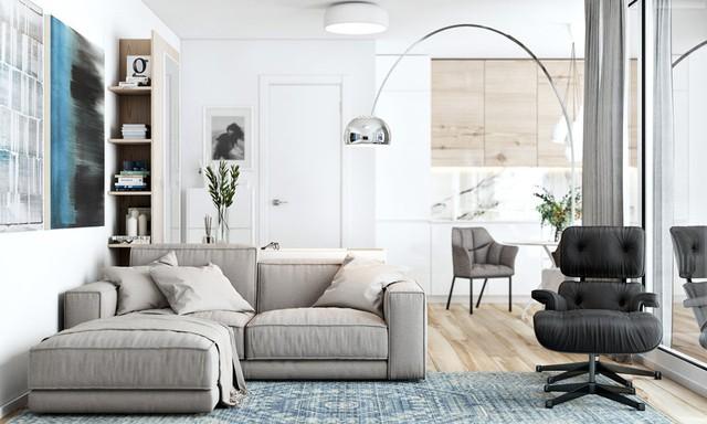 Tận dụng màu trắng căn hộ nhỏ của bạn sẽ được nới rộng một cách bất ngờ đấy - Ảnh 4.