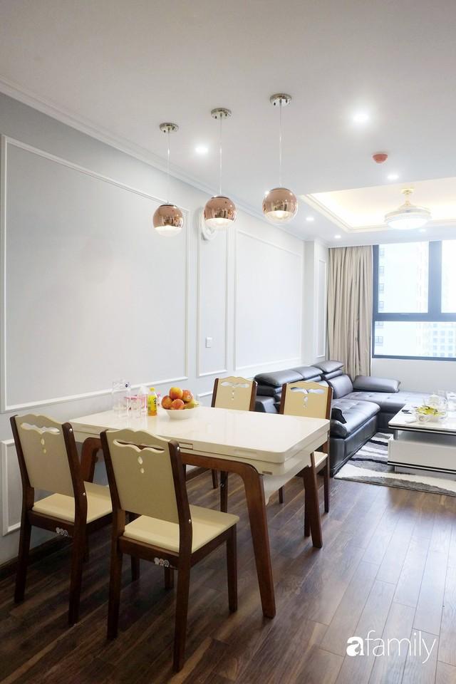Từ hiện trạng trống trơn, căn hộ 81m² mặc chiếc áo tân cổ điển đẹp sang trọng với chi phí thi công 175 triệu ở Long Biên - Ảnh 9.