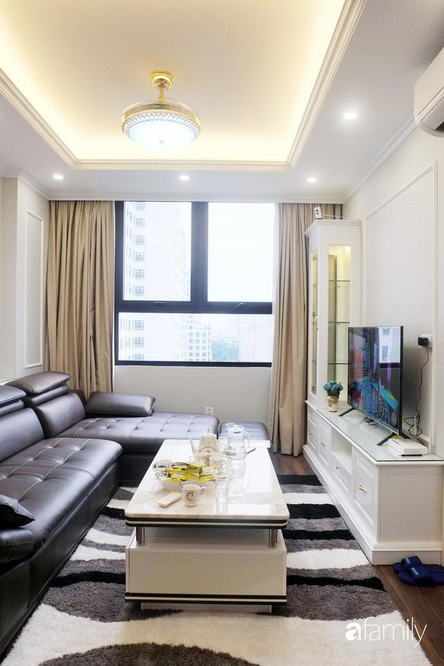 Từ hiện trạng trống trơn, căn hộ 81m² mặc chiếc áo tân cổ điển đẹp sang trọng với chi phí thi công 175 triệu ở Long Biên - Ảnh 10.