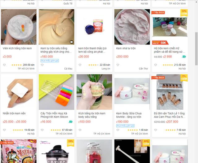 Mục sở thị thị trường bán kem trộn online giá rẻ giật mình với tác dụng được quảng cáo đến tận mây xanh - Ảnh 1.