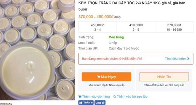 Mục sở thị thị trường bán kem trộn online giá rẻ giật mình với tác dụng được quảng cáo đến tận mây xanh - Ảnh 2.
