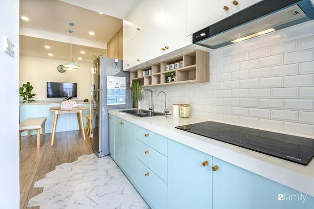 Căn hộ 65m² đẹp như nhà mẫu với điểm nhấn màu vàng và xanh mint của gia đình 3 người ở Quận 9, TP. HCM - Ảnh 11.
