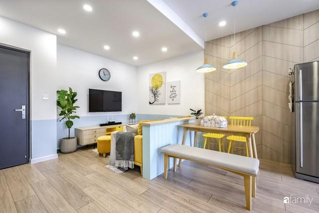 Căn hộ 65m² đẹp như nhà mẫu với điểm nhấn màu vàng và xanh mint của gia đình 3 người ở Quận 9, TP. HCM - Ảnh 12.