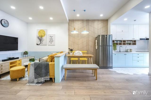 Căn hộ 65m² đẹp như nhà mẫu với điểm nhấn màu vàng và xanh mint của gia đình 3 người ở Quận 9, TP. HCM - Ảnh 13.