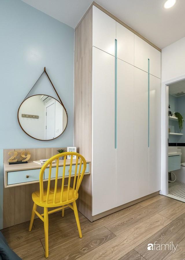 Căn hộ 65m² đẹp như nhà mẫu với điểm nhấn màu vàng và xanh mint của gia đình 3 người ở Quận 9, TP. HCM - Ảnh 18.