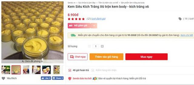 Mục sở thị thị trường bán kem trộn online giá rẻ giật mình với tác dụng được quảng cáo đến tận mây xanh - Ảnh 3.