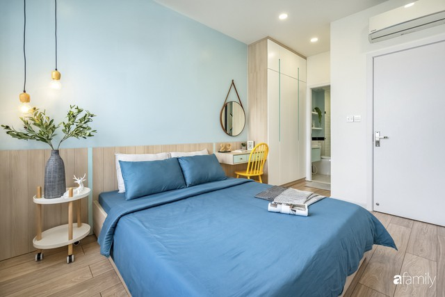 Căn hộ 65m² đẹp như nhà mẫu với điểm nhấn màu vàng và xanh mint của gia đình 3 người ở Quận 9, TP. HCM - Ảnh 22.