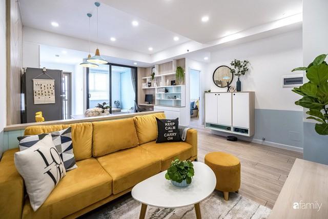 Căn hộ 65m² đẹp như nhà mẫu với điểm nhấn màu vàng và xanh mint của gia đình 3 người ở Quận 9, TP. HCM - Ảnh 4.
