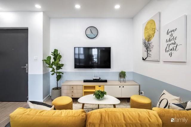 Căn hộ 65m² đẹp như nhà mẫu với điểm nhấn màu vàng và xanh mint của gia đình 3 người ở Quận 9, TP. HCM - Ảnh 6.