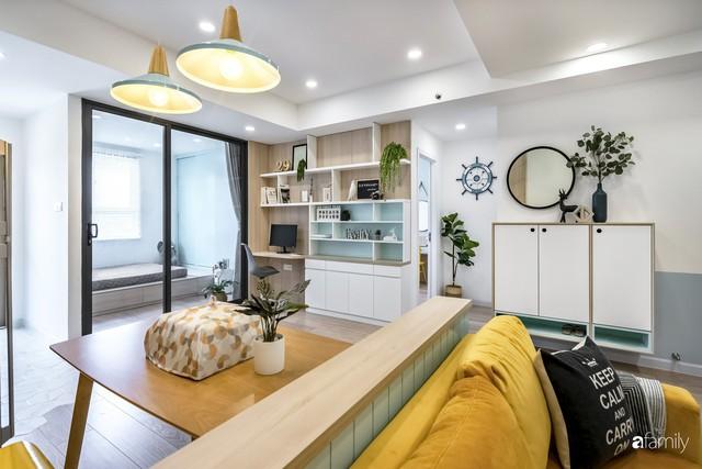 Căn hộ 65m² đẹp như nhà mẫu với điểm nhấn màu vàng và xanh mint của gia đình 3 người ở Quận 9, TP. HCM - Ảnh 7.