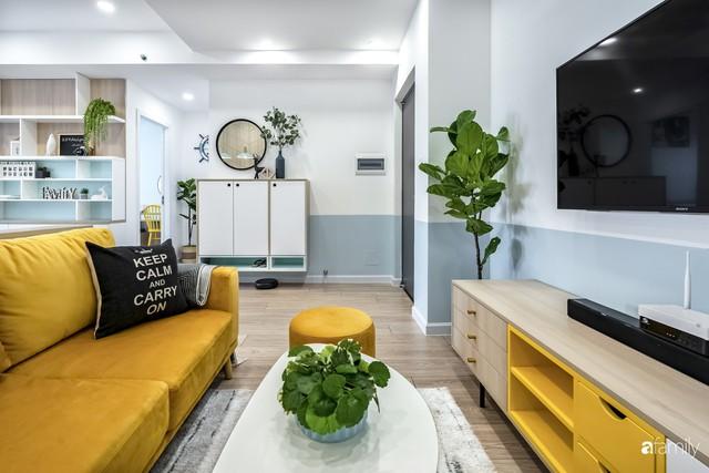 Căn hộ 65m² đẹp như nhà mẫu với điểm nhấn màu vàng và xanh mint của gia đình 3 người ở Quận 9, TP. HCM - Ảnh 8.