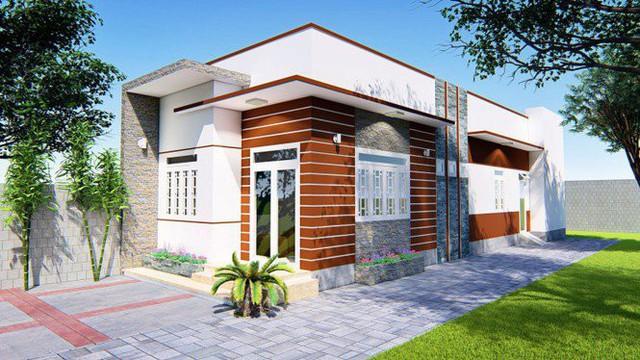 Mẫu nhà cấp 4 hai phòng ngủ đẹp như mơ ở Đăk Lăk chỉ 400 triệu đồng - Ảnh 1.