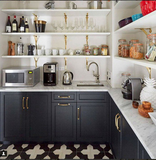 Những ý tưởng lát sàn, ốp tường lạ mà đẹp cho nhà bếp có thể bạn chưa nghĩ tới - Ảnh 5.