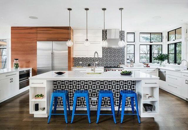 Những ý tưởng lát sàn, ốp tường lạ mà đẹp cho nhà bếp có thể bạn chưa nghĩ tới - Ảnh 6.