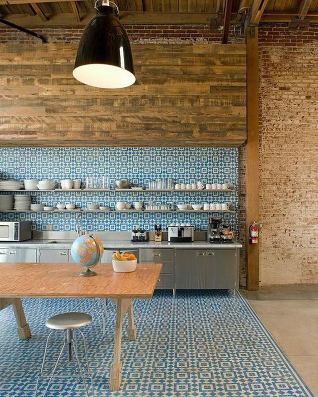 Những ý tưởng lát sàn, ốp tường lạ mà đẹp cho nhà bếp có thể bạn chưa nghĩ tới - Ảnh 7.