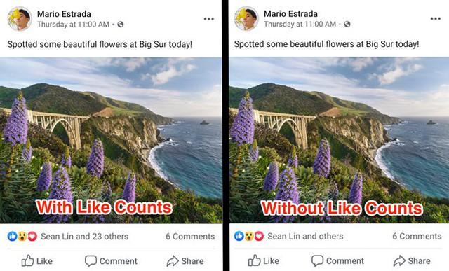 Facebook bắt đầu ẩn số lượt like bài viết - Ảnh 2.