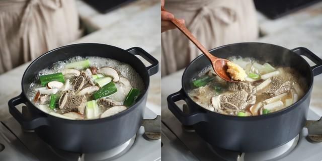 Học người Hàn cách nấu canh sườn ngọt thơm lạ miệng, ăn là thích ngay - Ảnh 4.