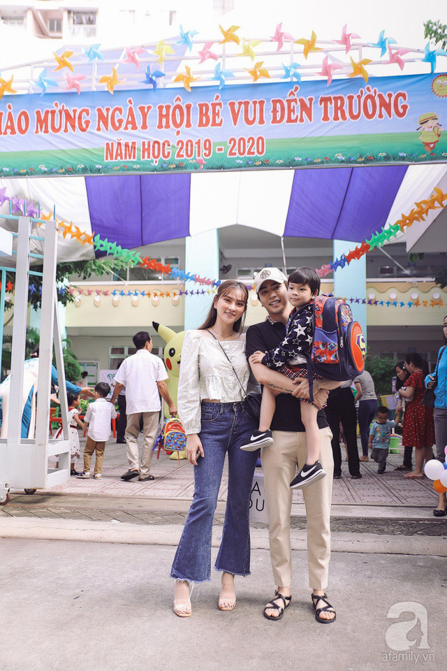 Thu Thủy cùng chồng kém 10 tuổi hào hứng đưa bé Henry tới trường trong ngày khai giảng năm học mới, bỏ qua loạt ồn ào không đáng có - Ảnh 3.