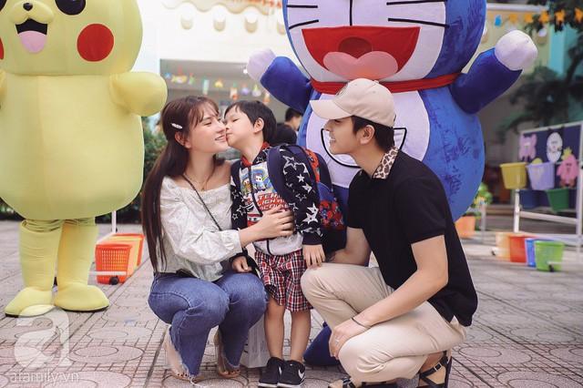 Thu Thủy cùng chồng kém 10 tuổi hào hứng đưa bé Henry tới trường trong ngày khai giảng năm học mới, bỏ qua loạt ồn ào không đáng có - Ảnh 5.