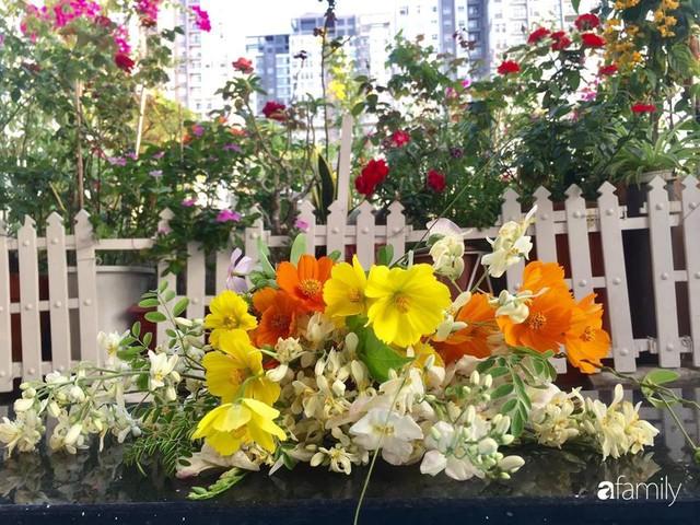 Khu vườn 30m² muôn hoa đua nở trên sân thượng của mẹ đảm thích mộng mơ ở TP. HCM - Ảnh 30.