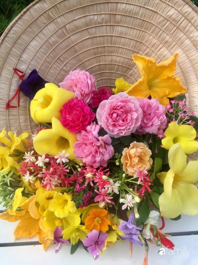 Khu vườn 30m² muôn hoa đua nở trên sân thượng của mẹ đảm thích mộng mơ ở TP. HCM - Ảnh 5.