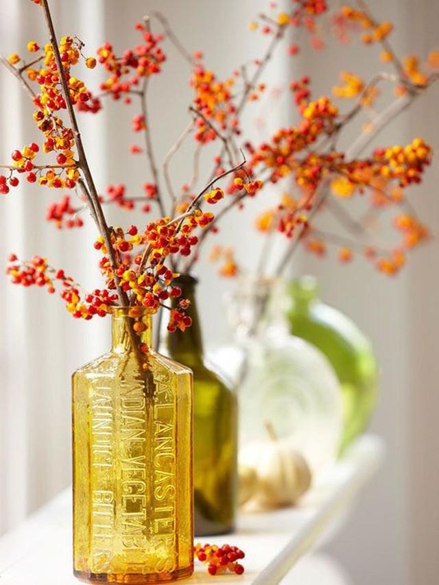 Không cần phải tốn tiền bạc hay công sức, với một chút sáng tạo là bạn có thể đem mùa thu đẹp dịu dàng vào nhà - Ảnh 10.