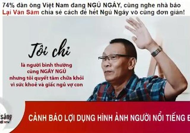 Hình ảnh nhà báo Lại Văn Sâm bị lợi dụng