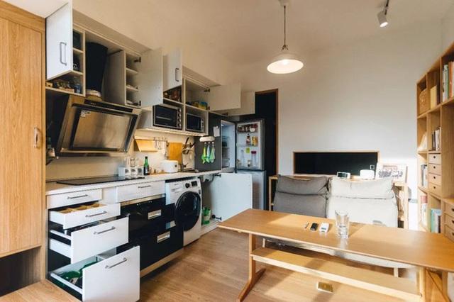 Thay vì mua nhà ngoại ô rộng rãi, chàng trai dành tiền cải tạo căn hộ 35m² đẹp tiện nghi ở trung tâm thành phố - Ảnh 12.