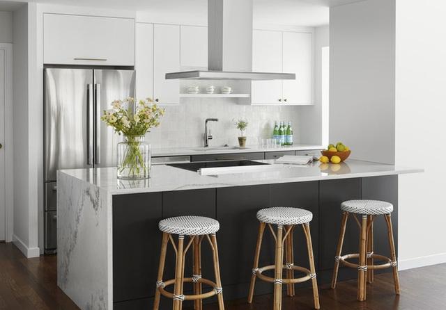 Căn bếp đen - trắng vừa đẹp vừa sang lại luôn gọn gàng ngăn nắp - Ảnh 7.