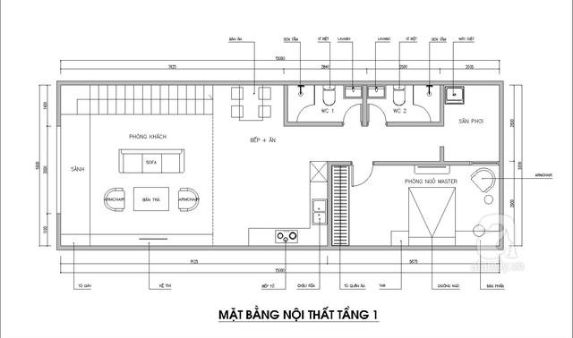 Thiết kế nhà có gác lửng với diện tích 100m² cho gia đình 4 người với tổng chi phí 158 triệu đồng - Ảnh 2.