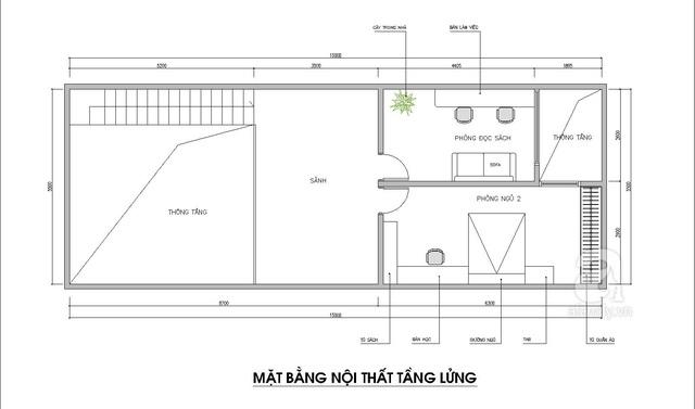Thiết kế nhà có gác lửng với diện tích 100m² cho gia đình 4 người với tổng chi phí 158 triệu đồng - Ảnh 3.