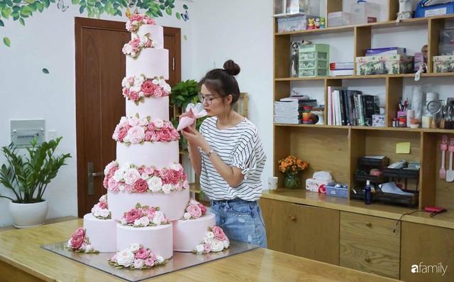 Căn bếp màu hồng ngọt ngào đẹp rụng tim của cô nàng dành tất cả niềm đam mê cho việc làm bánh ở Sài Gòn - Ảnh 4.