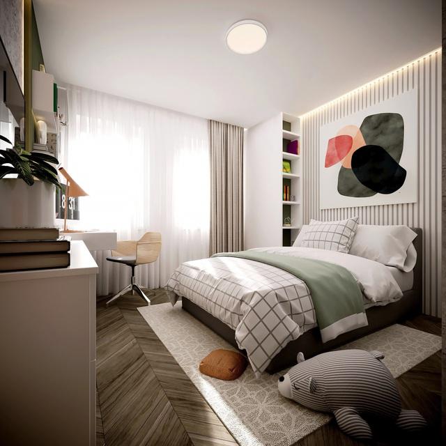 Thiết kế nhà có gác lửng với diện tích 100m² cho gia đình 4 người với tổng chi phí 158 triệu đồng - Ảnh 11.